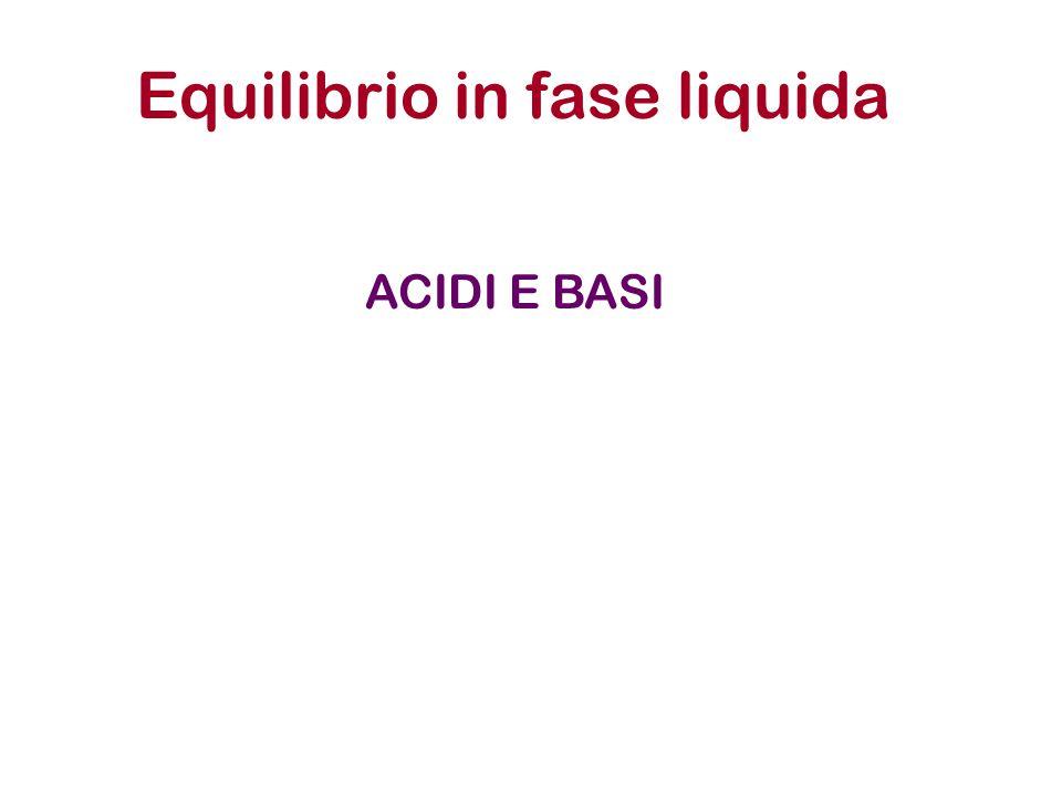 Equilibrio in fase liquida ACIDI E BASI