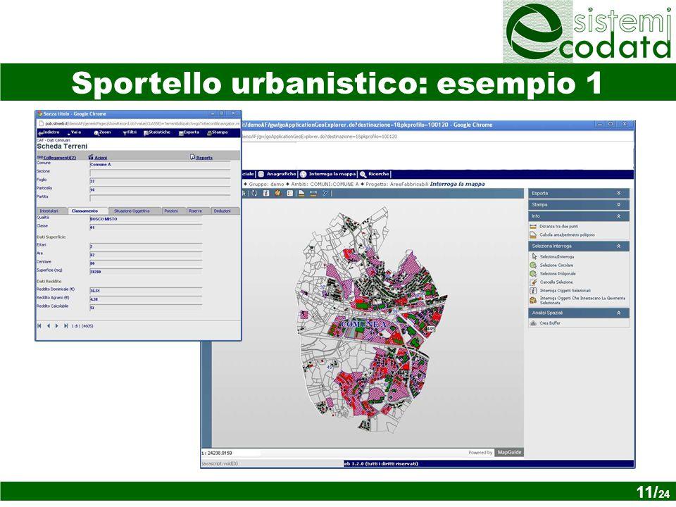 11/ x Sportello urbanistico: esempio 1 11/ 24