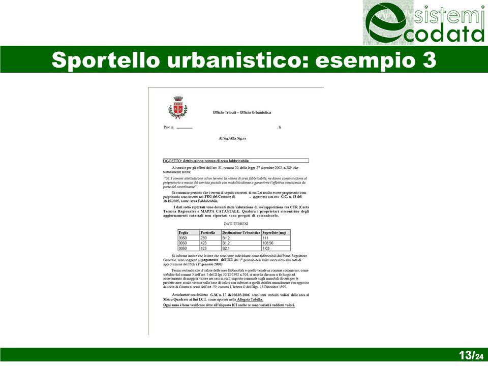 13/ x Sportello urbanistico: esempio 3 13/ 24