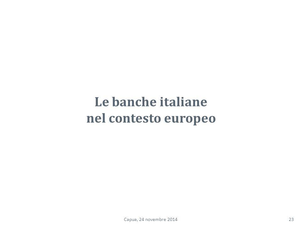 Le banche italiane nel contesto europeo 23Capua, 24 novembre 2014