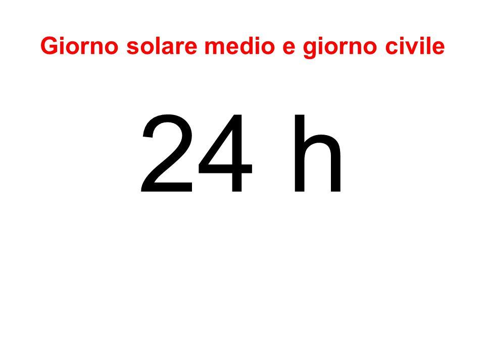 Giorno civile Per convenzione corrispondeva al giorno solare medio.