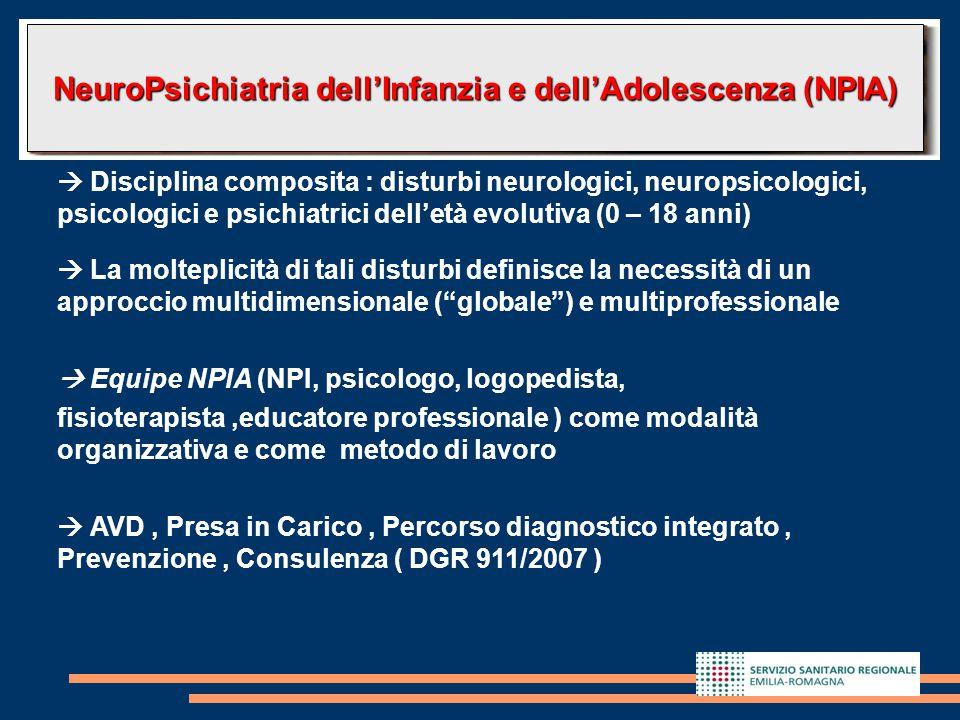 2  Disciplina composita : disturbi neurologici, neuropsicologici, psicologici e psichiatrici dell'età evolutiva (0 – 18 anni)  La molteplicità di ta
