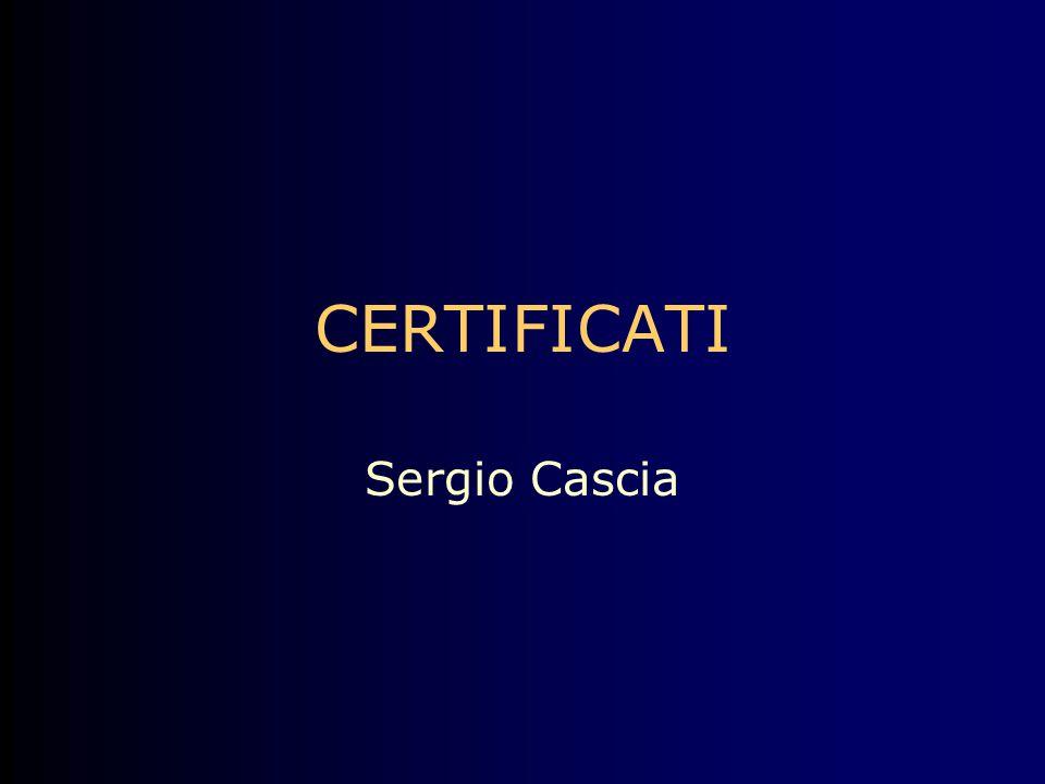 CERTIFICATI Sergio Cascia