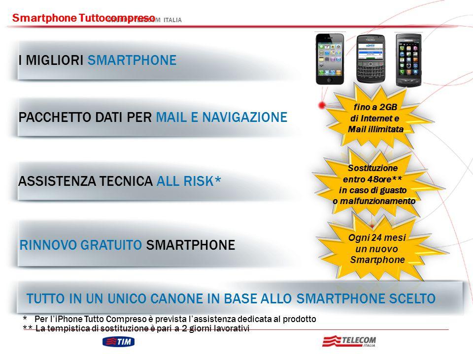 GRUPPO TELECOM ITALIA Smartphone Tuttocompreso Ogni 24 mesi un nuovo Smartphone I MIGLIORI SMARTPHONE PACCHETTO DATI PER MAIL E NAVIGAZIONE ASSISTENZA