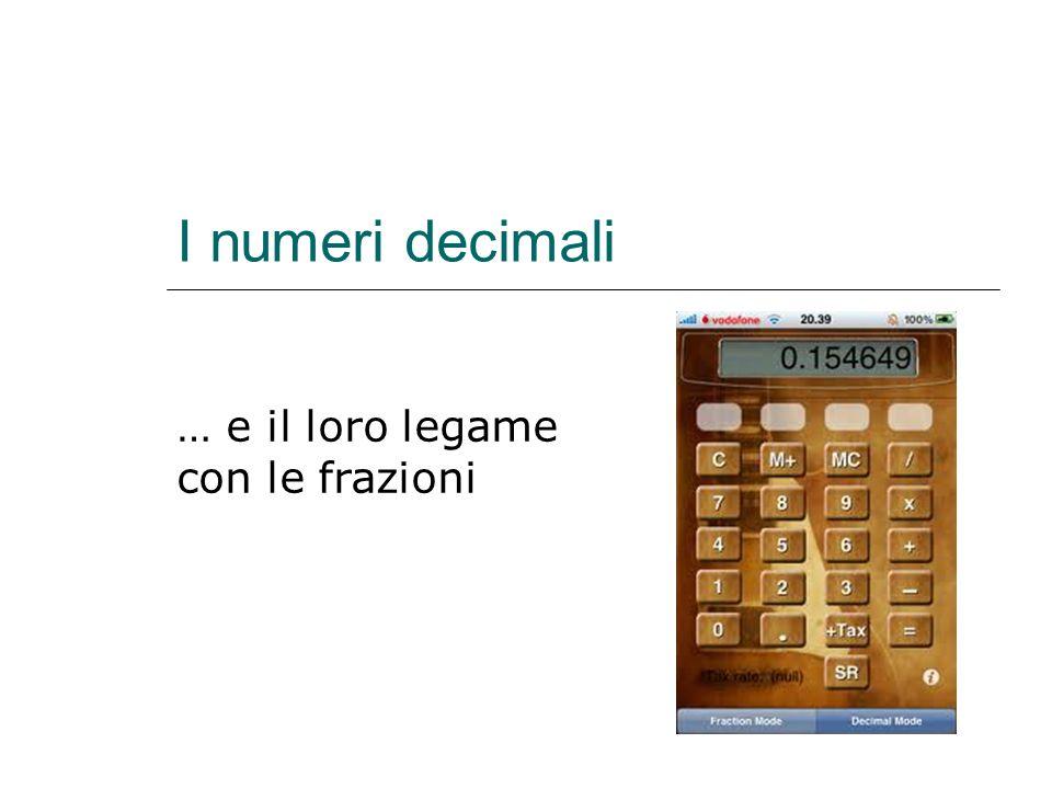 I numeri decimali … e il loro legame con le frazioni