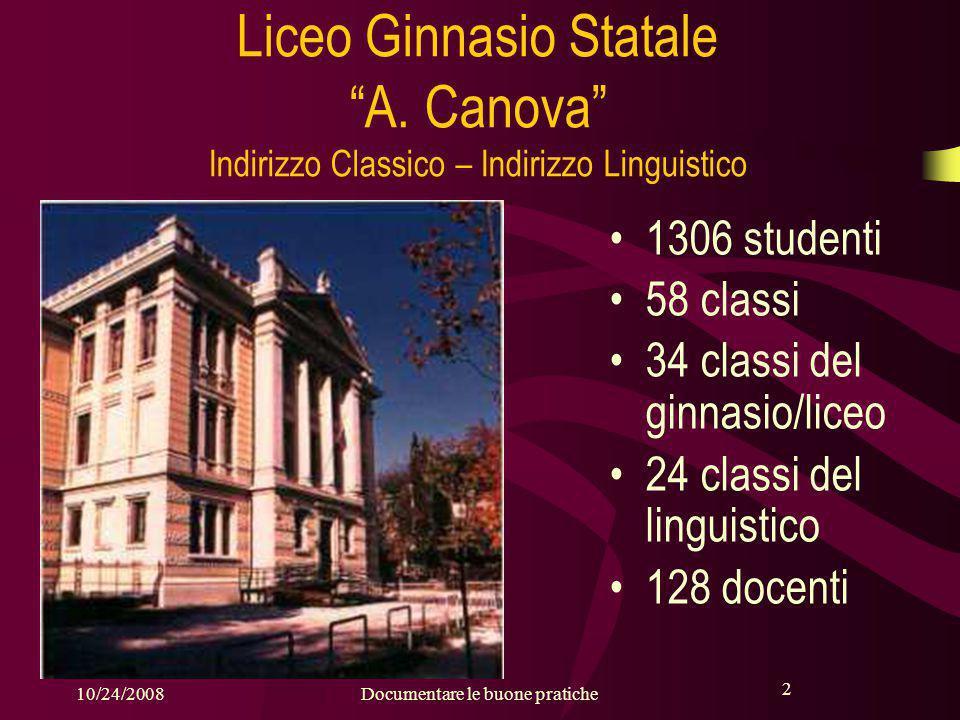 2 10/24/2008Documentare le buone pratiche 2 Liceo Ginnasio Statale A.