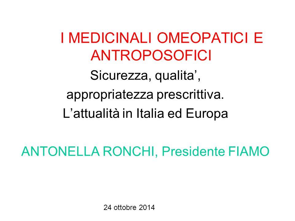 24 ottobre 2014 Foglio illustrativo dei medicinali omeopatici unitari (bugiardino) Il farmaco omeopatico unitario ha proprietà polifunzionali e si adatta in maniera differente alla terapia di malattie acute e di malattie croniche.