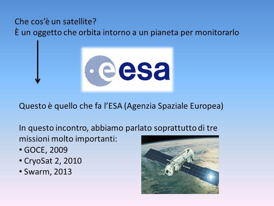 Missione GOCE, 2009 È stata la missione di maggior successo dell'ESA, infatti ha completato la mappatura del geoide terrestre.