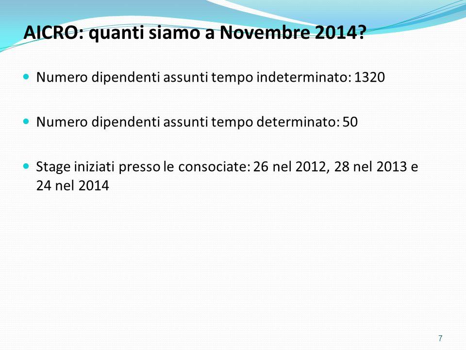 Numero dipendenti assunti tempo indeterminato: 1320 Numero dipendenti assunti tempo determinato: 50 Stage iniziati presso le consociate: 26 nel 2012,