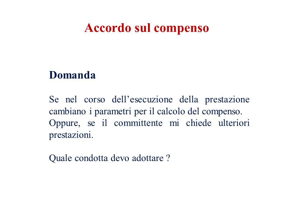 Risposta (Codice Deontologico) Art.24 (Contratti e compenso) 4.