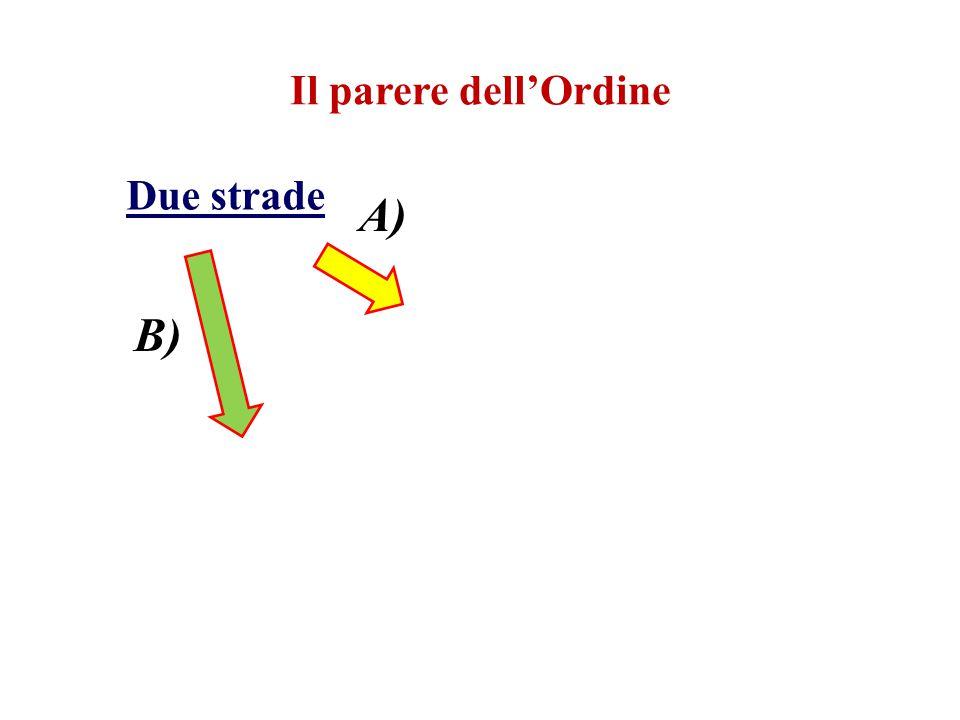 Due strade A) B)