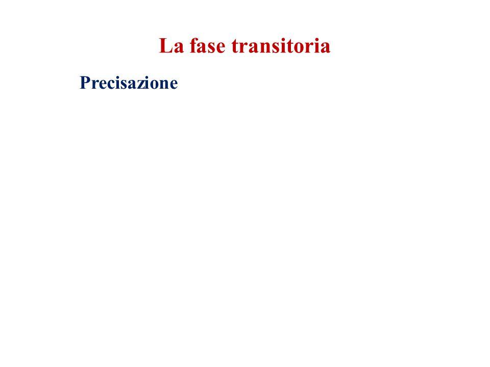 Precisazione La fase transitoria