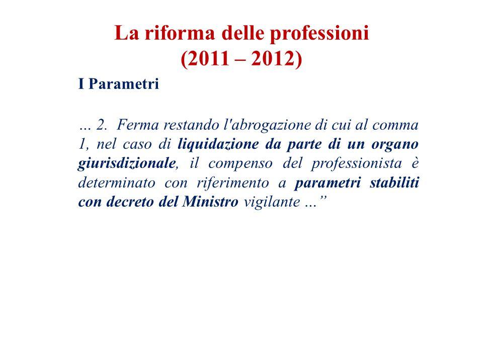 I Parametri … 2.