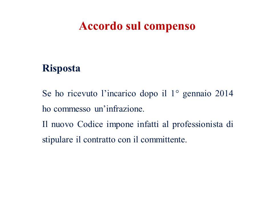 Codice Deontologico (2014) Art.24 (Contratti e Compensi) obbligo del contratto 1.