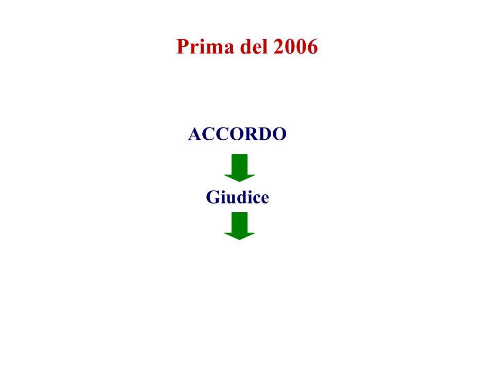 Prima del 2006 ACCORDO Giudice ACCORDO