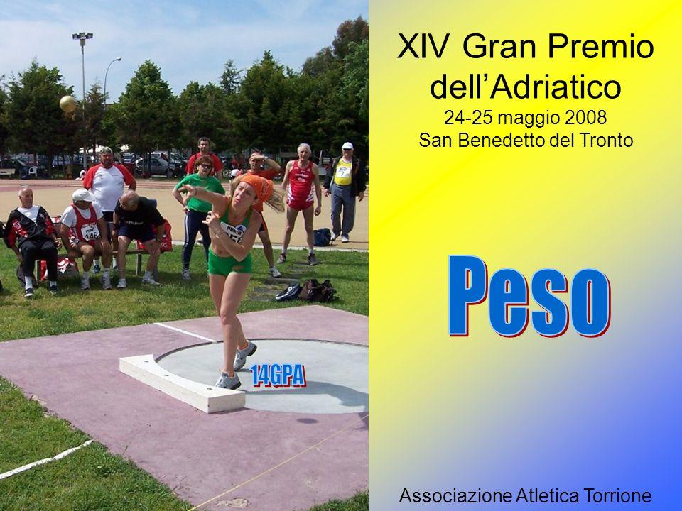 XIV Gran Premio dell'Adriatico 24-25 maggio 2008 – San Benedetto del Tronto Associazione Atletica Torrione