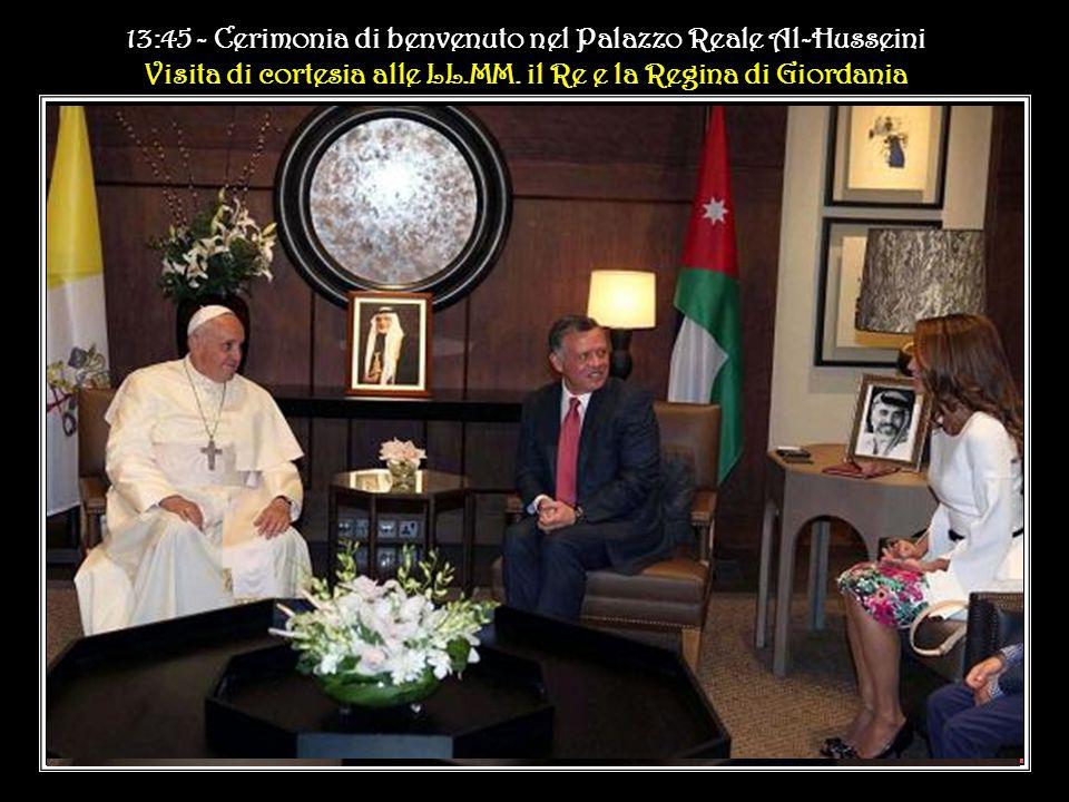 13:45 - Cerimonia di benvenuto nel Palazzo Reale Al-Husseini Visita di cortesia alle LL.MM.