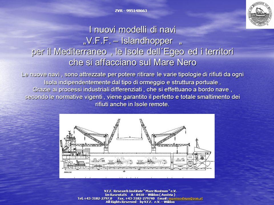 """I nuovi modelli di navi """"V.F.F. – Islandhopper """" per il Mediterraneo, le Isole dell´Egeo ed i territori che si affacciano sul Mare Nero Le nuove navi,"""