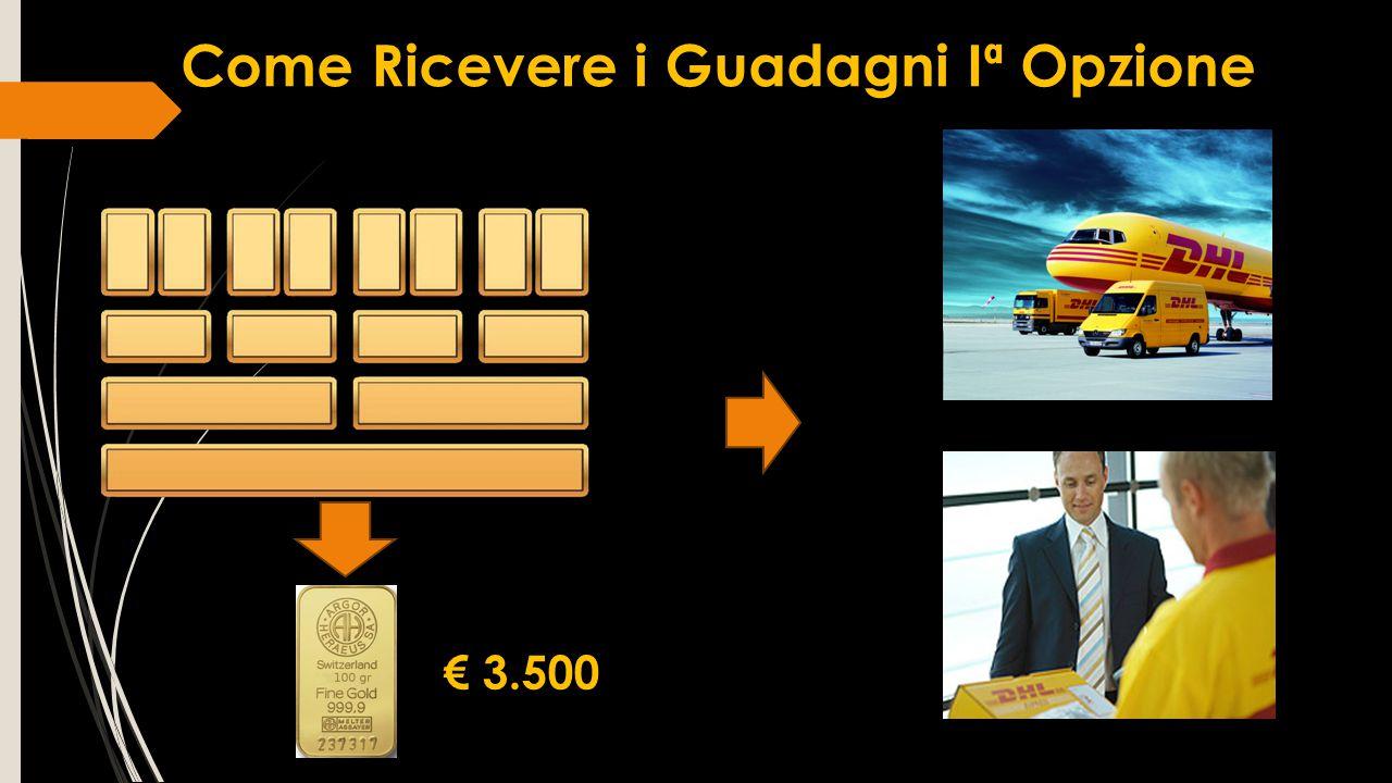 Come Ricevere i Guadagni Iª Opzione € 3.500