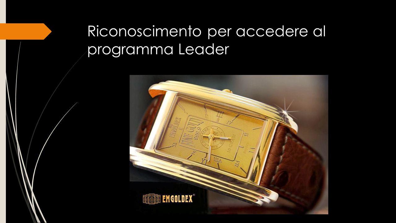 Riconoscimento per accedere al programma Leader