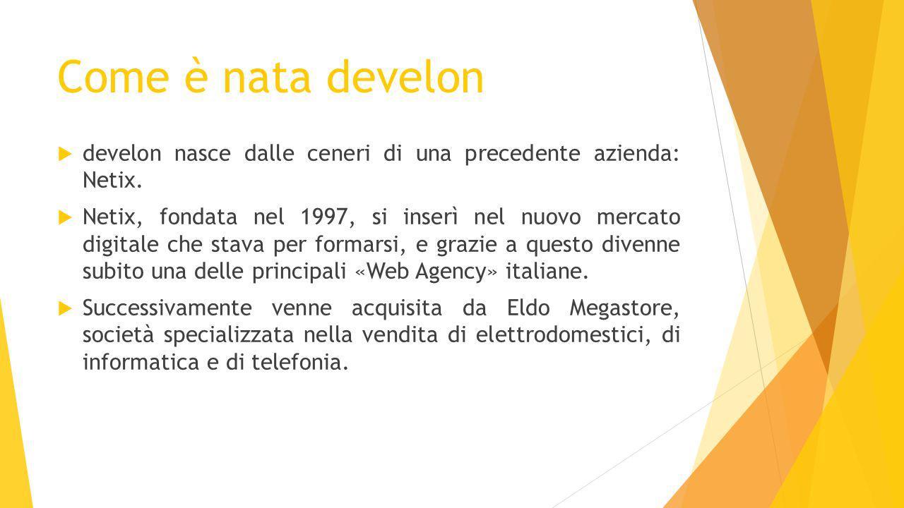 Come è nata develon  develon nasce dalle ceneri di una precedente azienda: Netix.