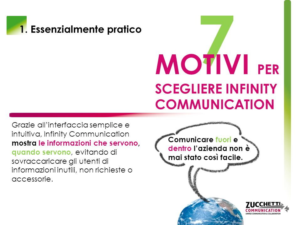 7 MOTIVI PER SCEGLIERE INFINITY COMMUNICATION 1.