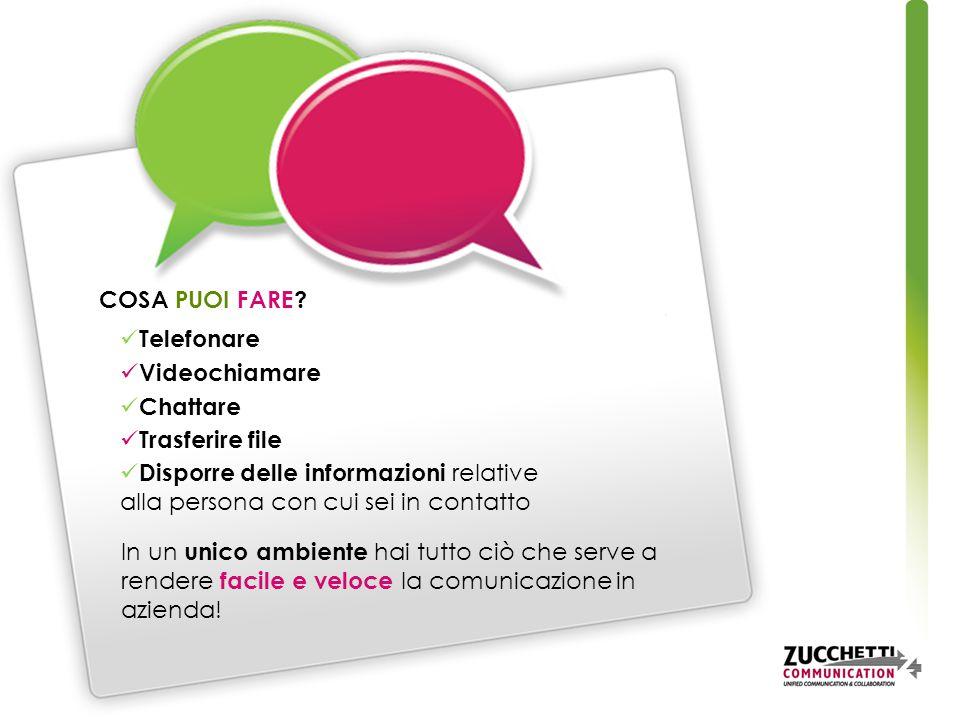 In un unico ambiente hai tutto ciò che serve a rendere facile e veloce la comunicazione in azienda.
