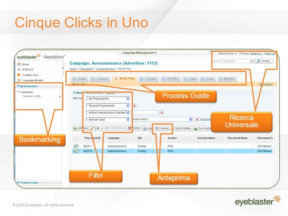 """Process Guide Ricerca Universale Filtri Bookmarking Anteprima """" Cinque Clicks in Uno"""
