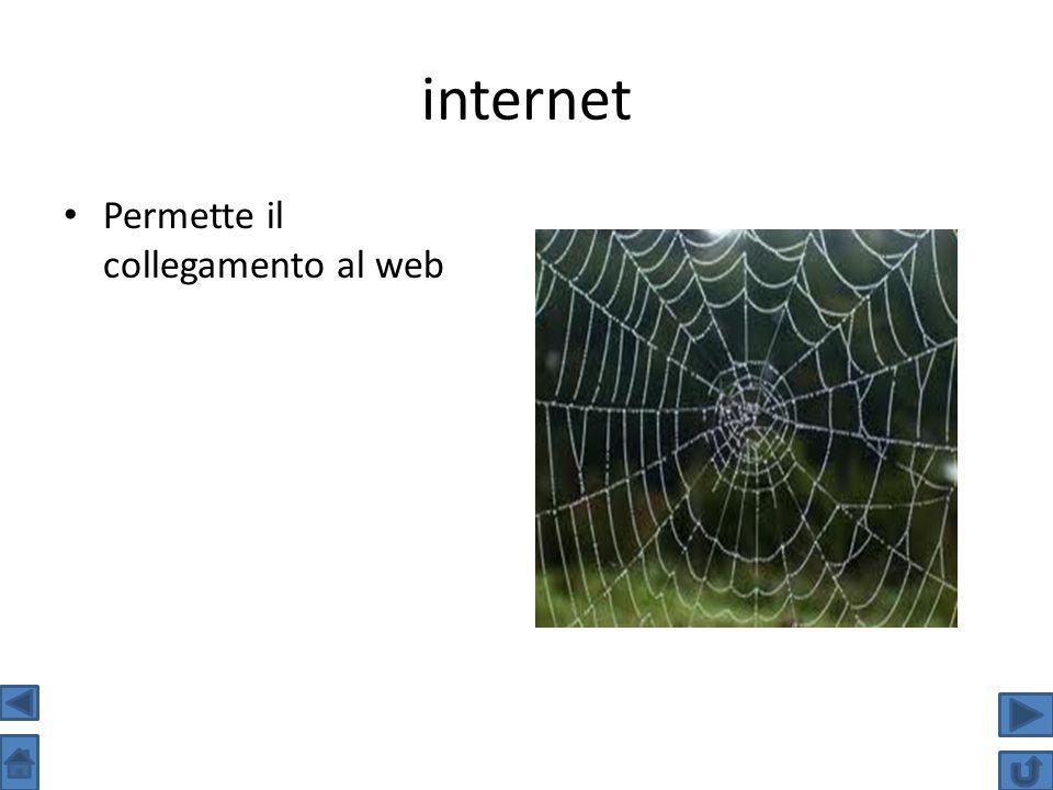 internet Permette il collegamento al web