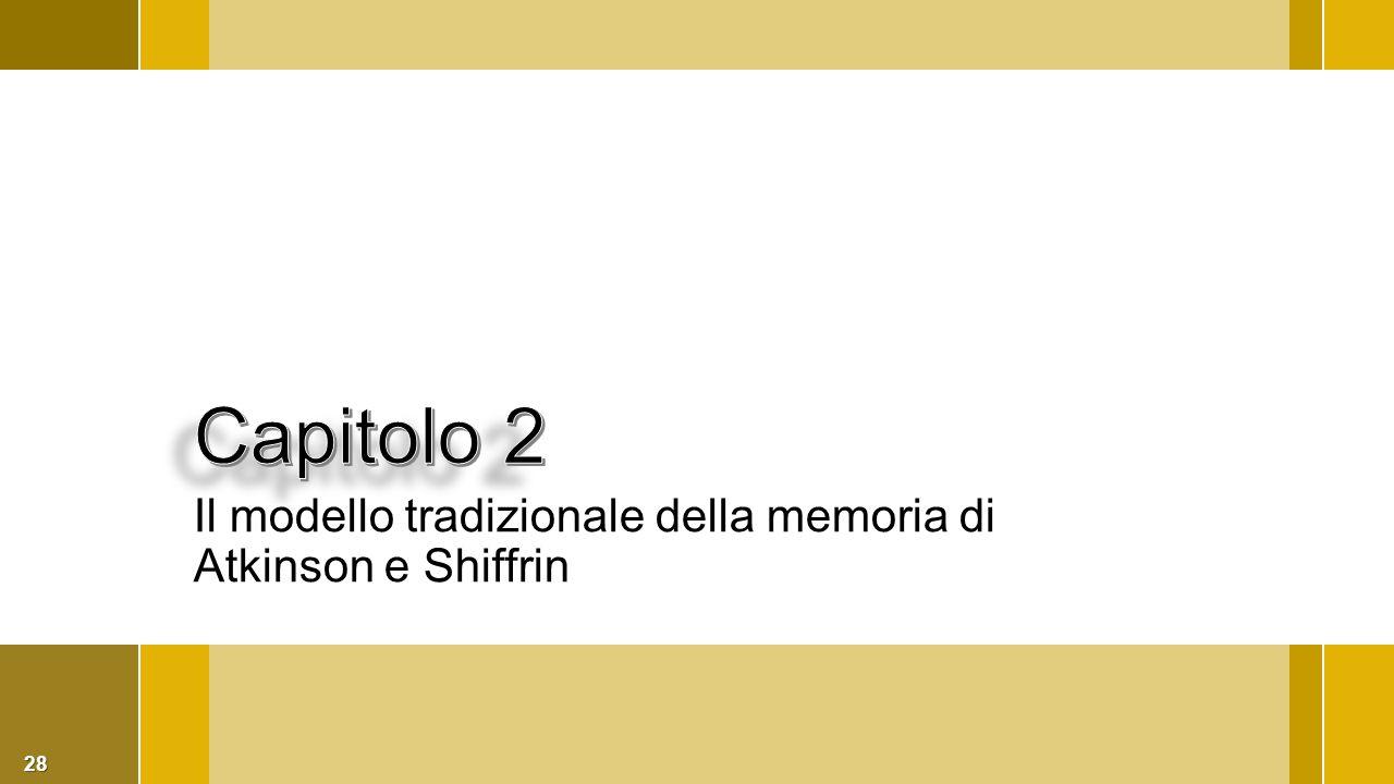 28 Il modello tradizionale della memoria di Atkinson e Shiffrin