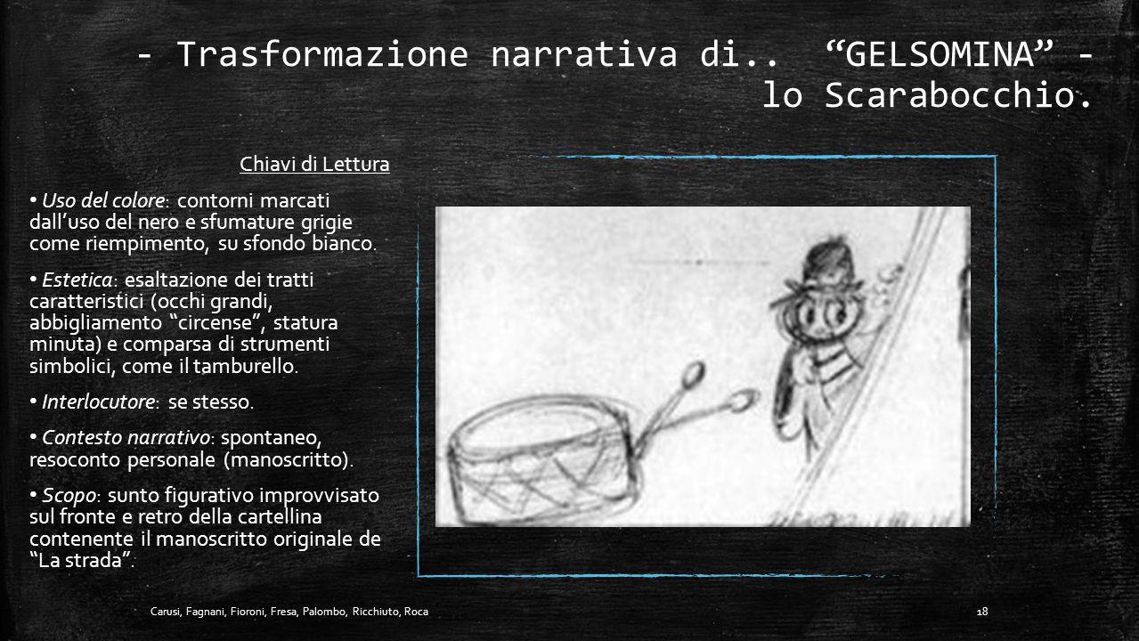 """- Trasformazione narrativa di.. """"SYLVIA"""" - il Film. 17Carusi, Fagnani, Fioroni, Fresa, Palombo, Ricchiuto, Roca"""