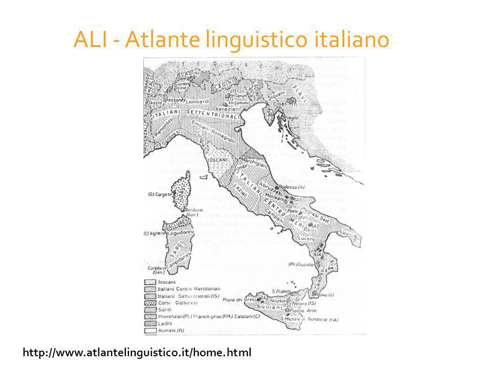 ALI - Atlante linguistico italiano http://www.atlantelinguistico.it/home.html