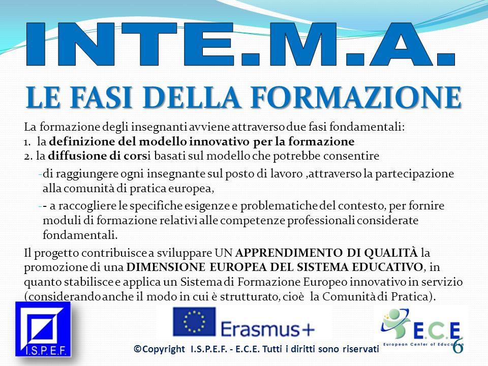 MIGLIORAMENTO DELLA QUALITÀ FORMATIVA Il progetto opera anche sulla QUALITÀ e la DIMENSIONE EUROPEA della formazione, perché si tratta di una formazione che ha influenza diretta sulla motivazione degli studenti e, di conseguenza, sulla loro partecipazione e il loro SUCCESSO SCOLASTICO.