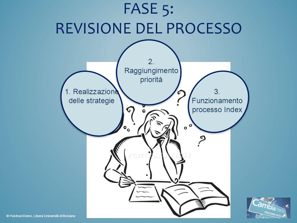 FASE 5: REVISIONE DEL PROCESSO 1.Realizzazione delle strategie 2.