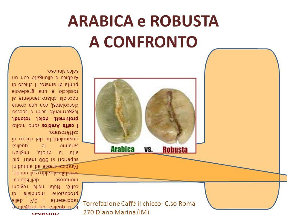 ROBUSTA La Robusta, come dice il suo nome, resiste bene al clima caldo e ai parassiti.