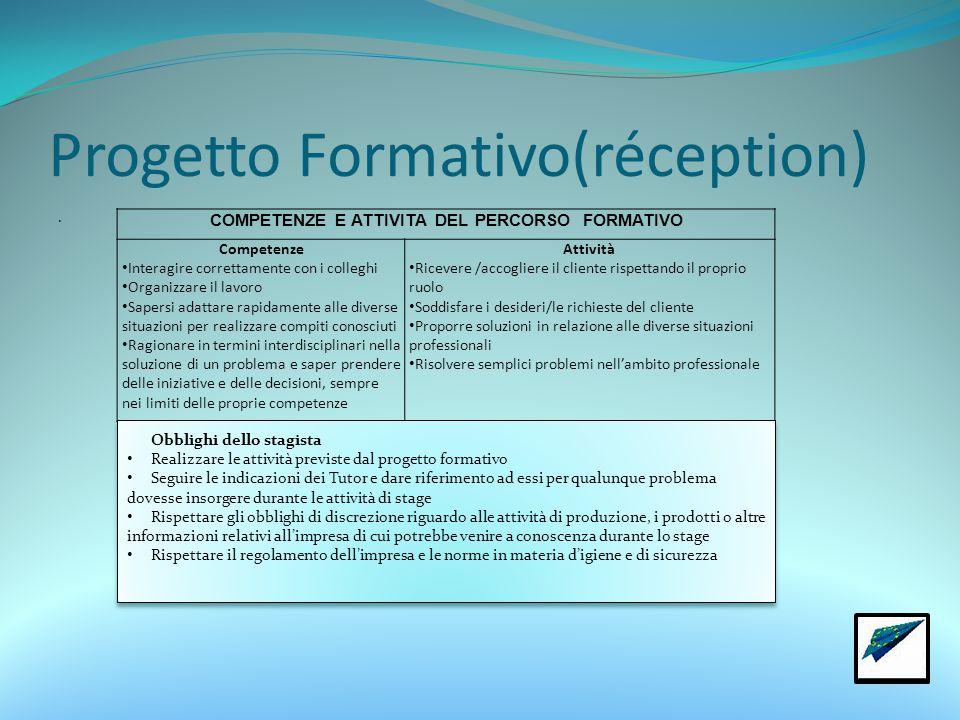 Progetto Formativo(réception).