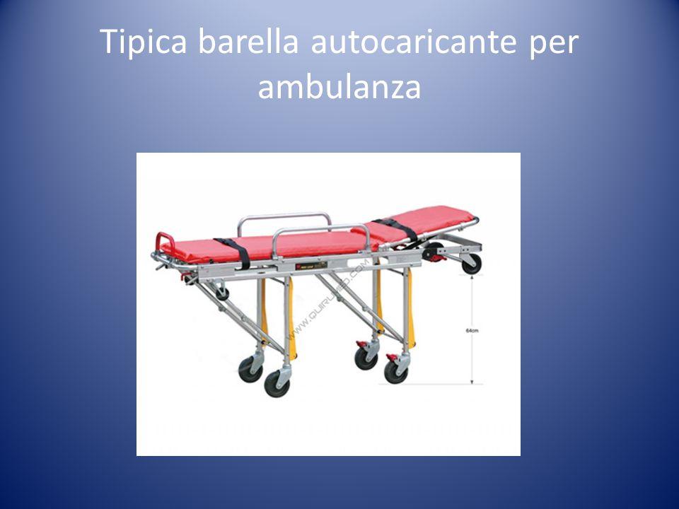Barella autocaricante Principali caratteristiche Deve essere portata da due persone, una alla testa e una ai piedi del paziente.