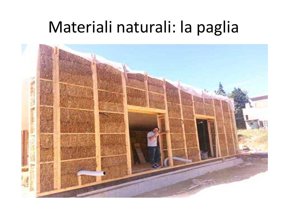 Materiali naturali: la paglia