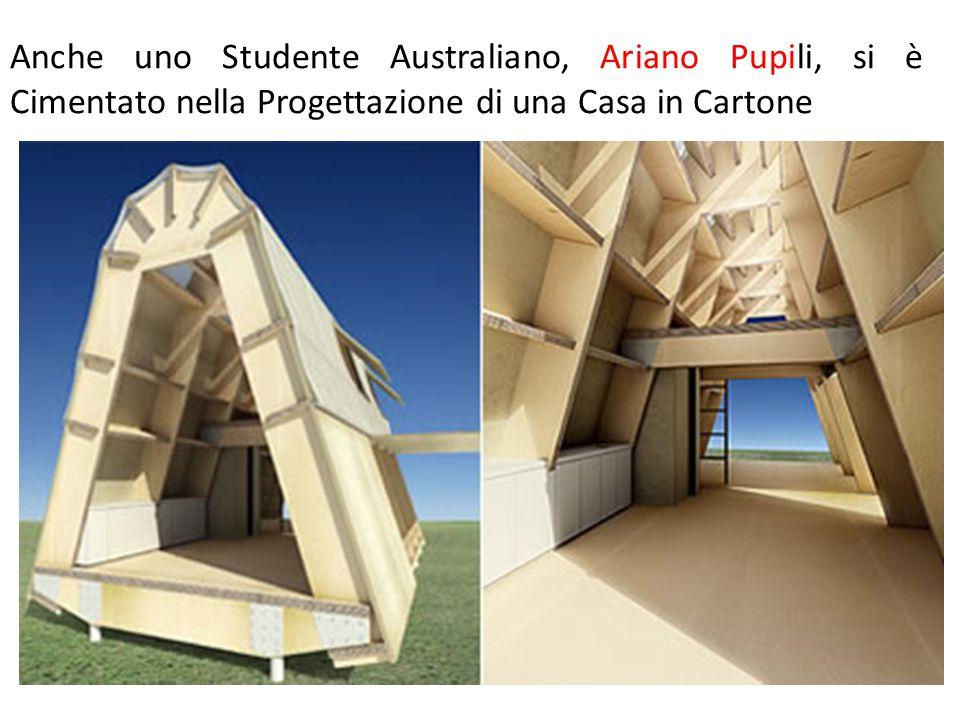 Anche uno Studente Australiano, Ariano Pupili, si è Cimentato nella Progettazione di una Casa in Cartone
