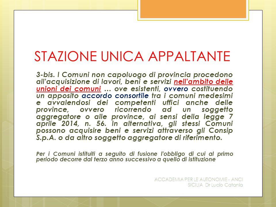 STAZIONE UNICA APPALTANTE 3-bis.