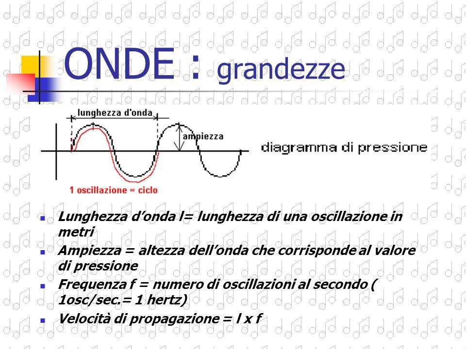 Il moto di un'onda è detto ondulatorio. Nell'aria il fenomeno avviene per successive compressioni e rarefazioni ONDE : forma