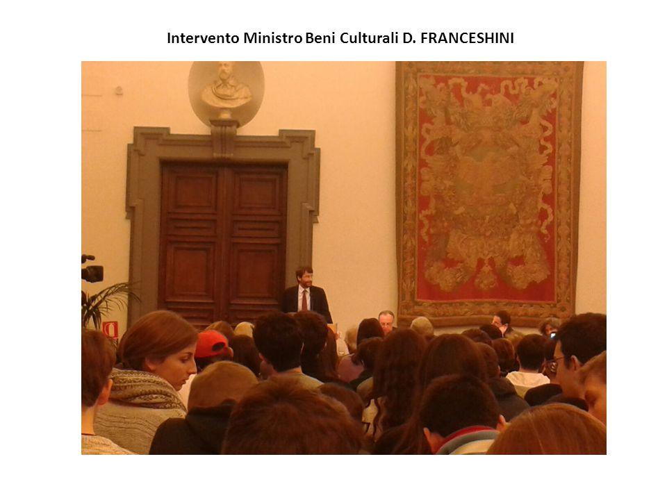 Intervento Ministro Beni Culturali D. FRANCESHINI