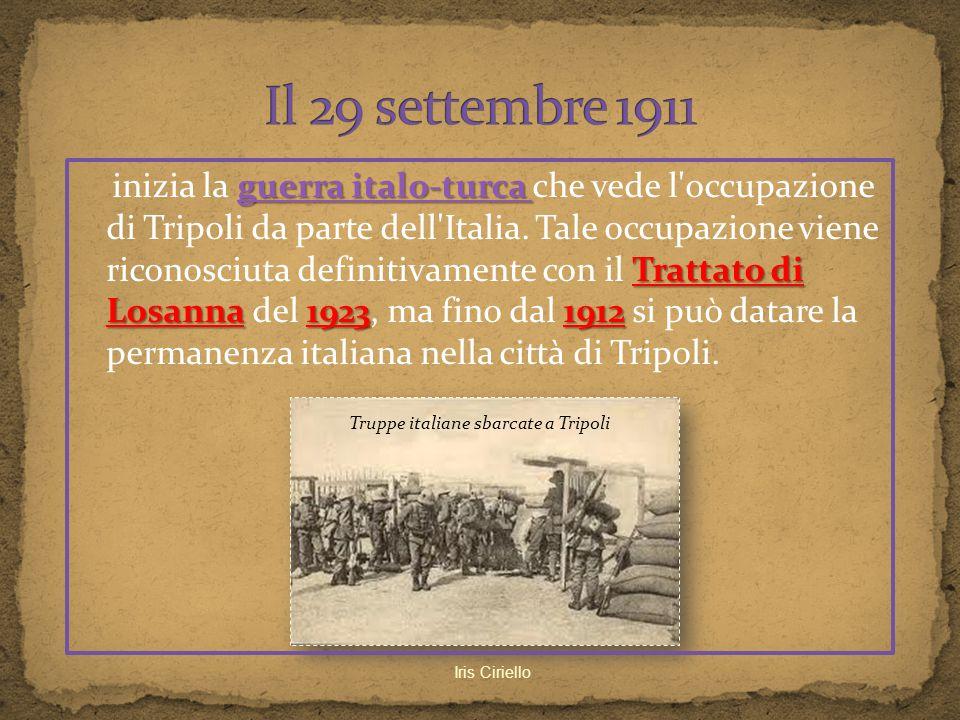 guerra italo-turca guerra italo-turca Trattato di Losanna 1923 1912 inizia la guerra italo-turca che vede l'occupazione di Tripoli da parte dell'Itali