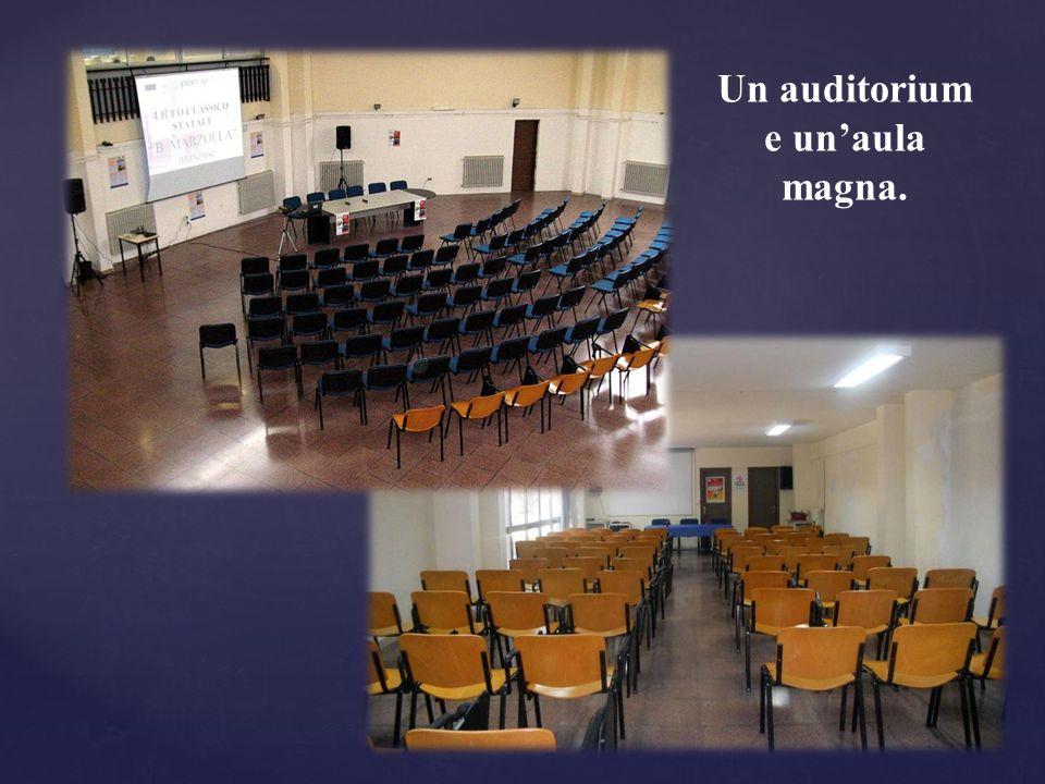 Un auditorium e un'aula magna.