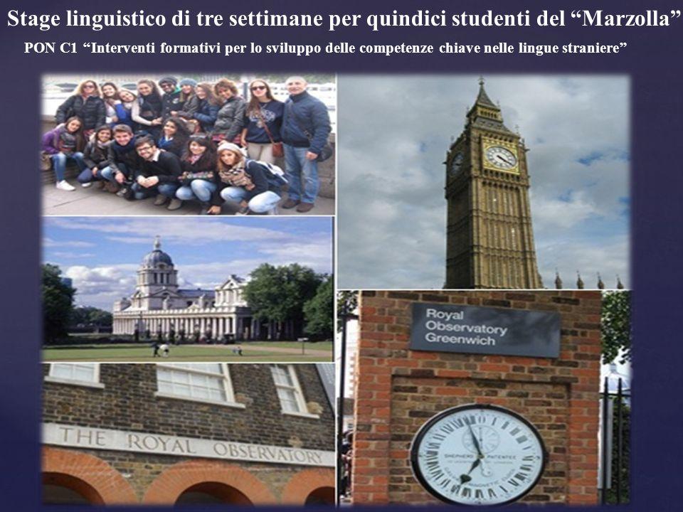 """Stage linguistico di tre settimane per quindici studenti del """"Marzolla"""" PON C1 ''Interventi formativi per lo sviluppo delle competenze chiave nelle li"""