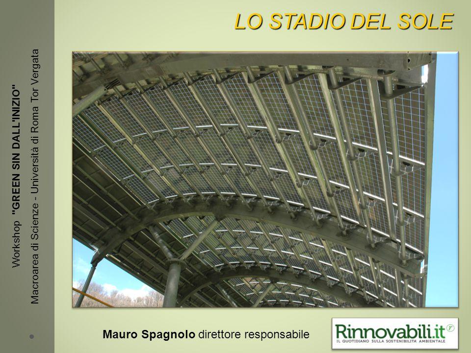 LO STADIO DEL SOLE Workshop GREEN SIN DALL INIZIO Macroarea di Scienze - Università di Roma Tor Vergata Mauro Spagnolo direttore responsabile
