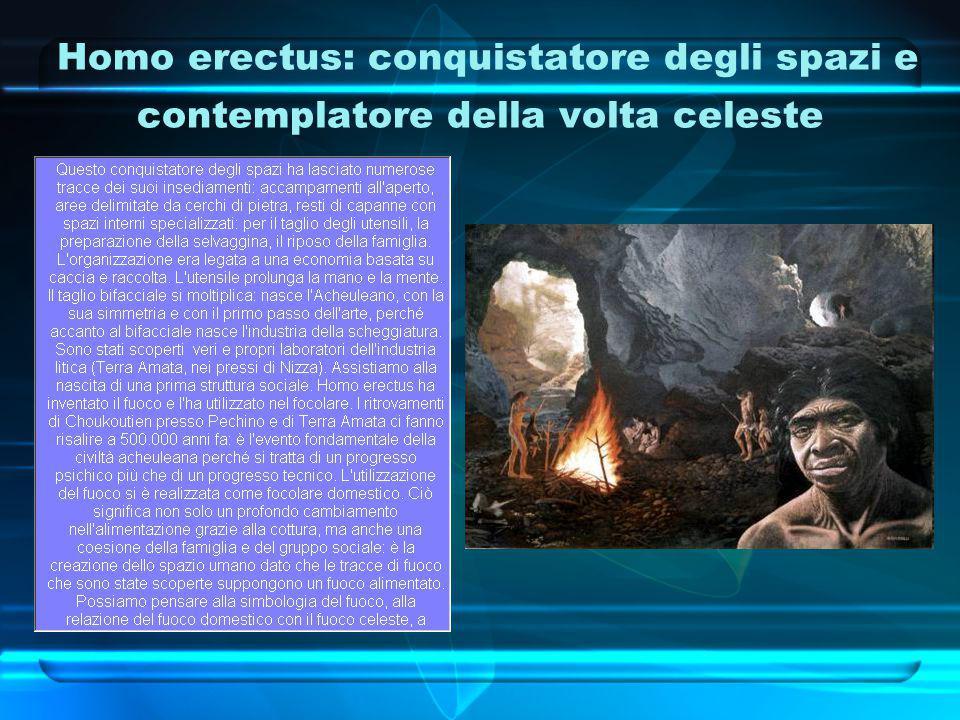 Homo erectus: conquistatore degli spazi e contemplatore della volta celeste