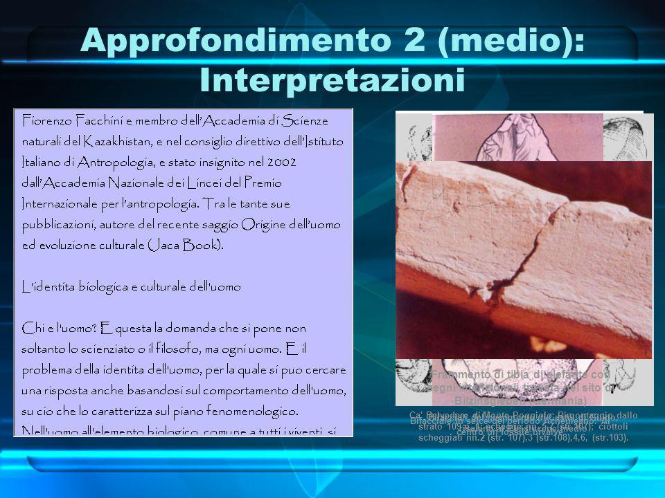 Approfondimento 2 (medio): Interpretazioni Bifacciali del giacimento di Castel di Guido, risalenti al Pleistocene medio Ca' Belvedere di Monte Poggiol