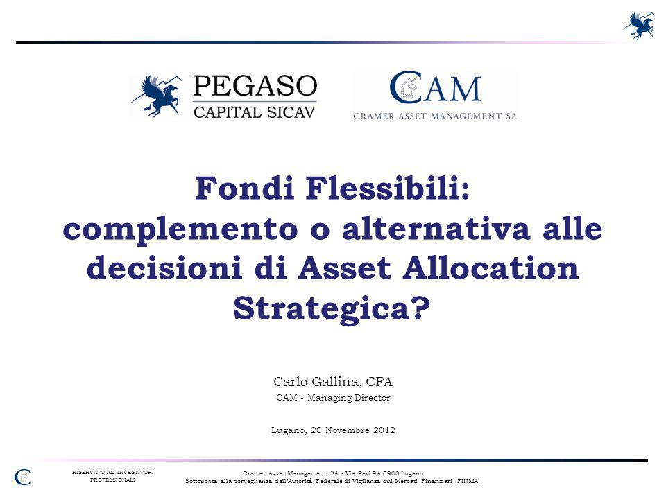 Cramer Asset Management SA - Via Peri 9A 6900 Lugano Sottoposta alla sorveglianza dell'Autorità Federale di Vigilanza sui Mercati Finanziari (FINMA) R