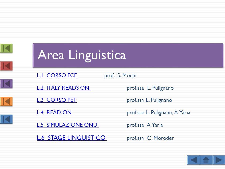 L.1 CORSO FCE L.1 CORSO FCE prof.S. Mochi L.2 ITALY READS ON L.2 ITALY READS ON prof.ssa L.